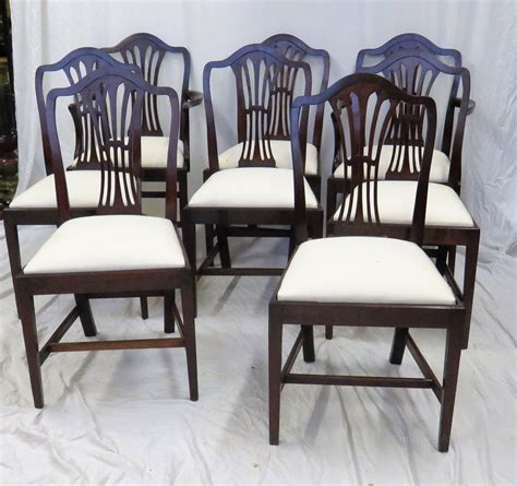 8 Chair Dining Set by Set Of 8 Mahogany Dining Chairs Antiques Atlas