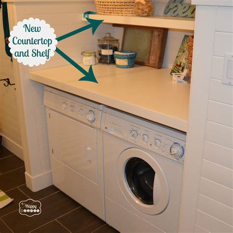 How To Build Laundry Room Cabinets How To Rev A Laundry Room Mud Room On A Budget The Happy Housie