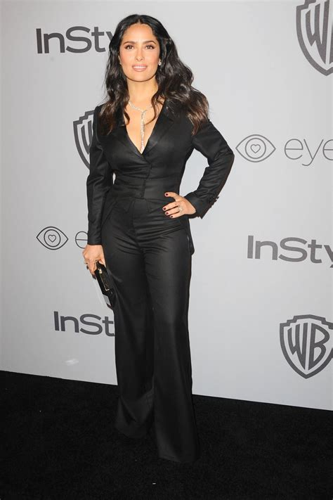 In Style And Warner Bros 2007 Golden Globe After by Salma Hayek At Instyle And Warner Bros Golden Globes After