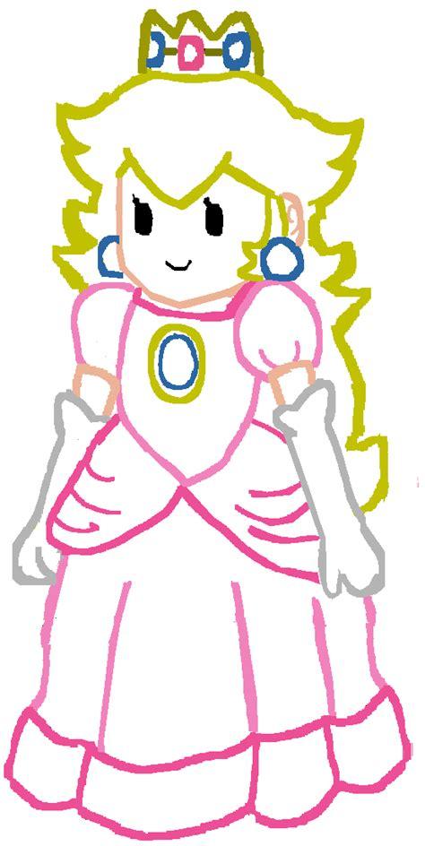 Paper Princess Peach Lineart By Gabbysailorlunar On Deviantart Paper Princess