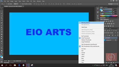 cara membuat garis tepi foto di photoshop eio arts