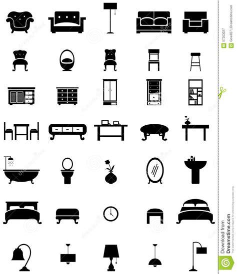 Closet Desk silhouette flat home appliance furniture and interior