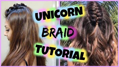 diy unicorn braid hair tutorial easy half up braided hairstyle for medium to hair