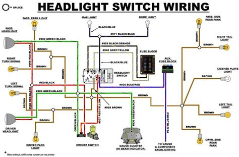 looking for headlight system wiring diagram for 2005 gmc 6500 day light works but not headlights eb headlight switch wiring diagram early bronco build list early bronco