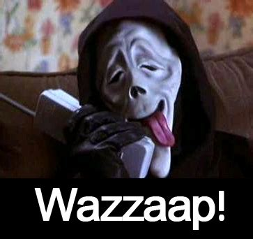 Scream Wazzup Meme - day 9 what s your favorite scary movie a blog just