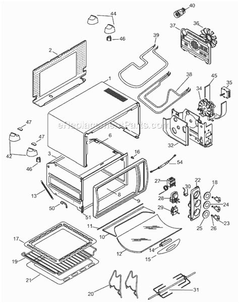Delonghi Toaster Oven Replacement Parts Delonghi As1870b Parts List And Diagram
