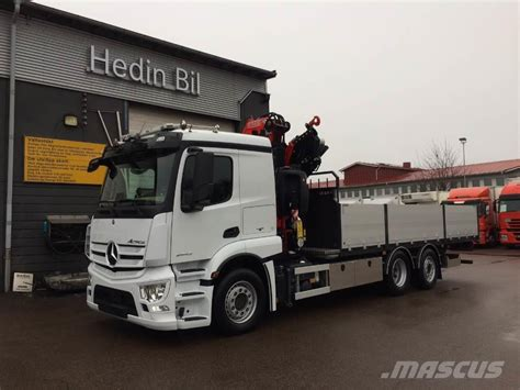 mercedes truck used mercedes benz actros 2543l crane trucks year 2017