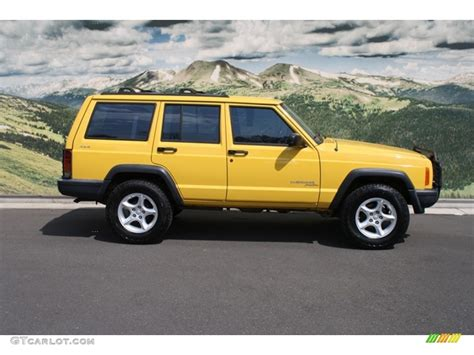 2000 solar yellow jeep sport 4x4 69727539 photo 2 gtcarlot car color galleries