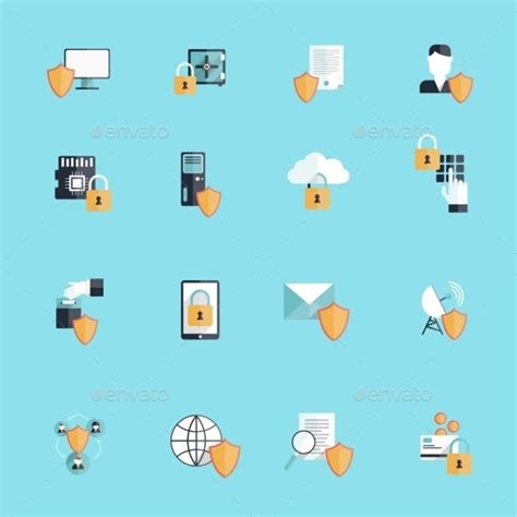 security icons  psd vector eps format