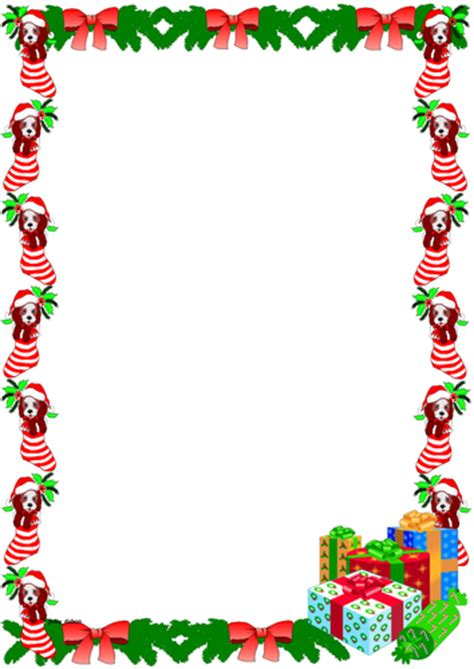 christmas themed borders christmas themed lined paper and pageborders by jinkydabon