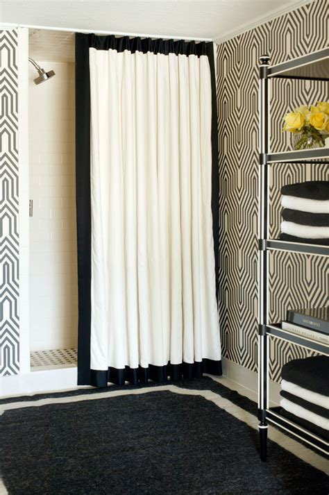 Bathroom Shower Curtain Decorating Ideas Cool Black And White Shower Curtain Target Decorating Ideas Images In Bathroom Craftsman Design