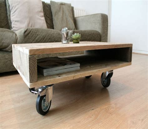 small table on wheels wooden pallet coffee tables on wheels my decor home