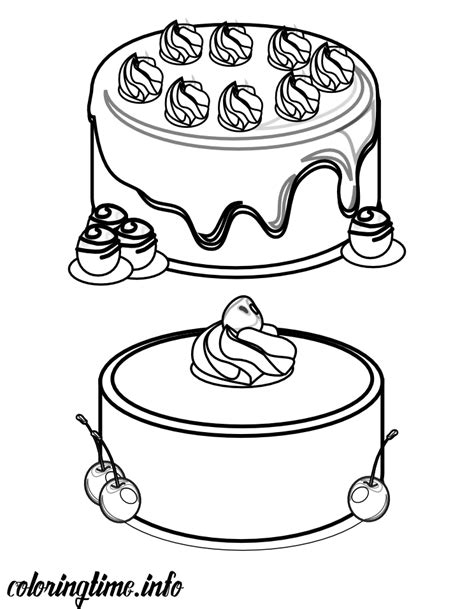 chocolate cake coloring page cakes coloring chocolate and cherry cakes printables