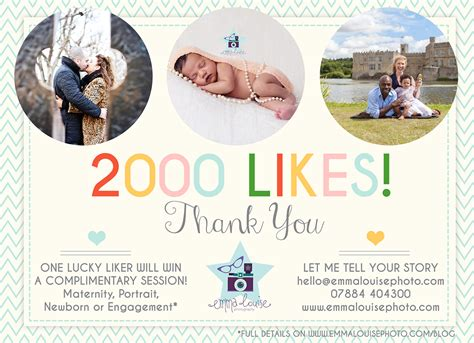 2000 Likes Giveaway - 2000 facebook likes giveaway emma louise photo