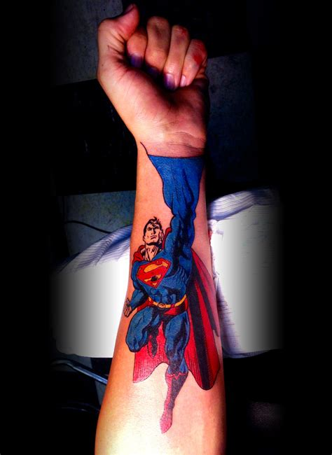 mccloud superman comic superman hand tattoo
