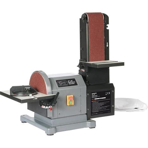 toolstation bench grinder sip 01946 500w 8 quot x 4 quot belt disc sander 230v toolstation