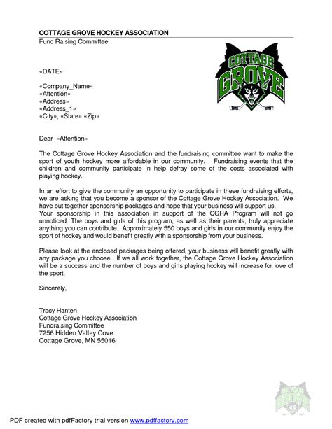 sports team sponsorship template best photos of sle sponsorship letter templates