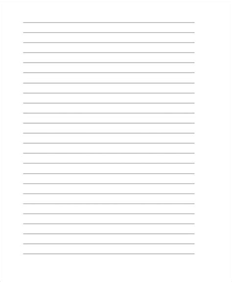 25 Free Lined Paper Templates Free Premium Templates Letter Template With Lines