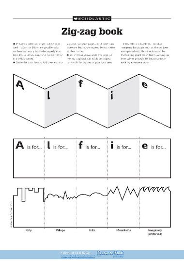 book template ks1 zig zag book free primary ks1 teaching resource scholastic