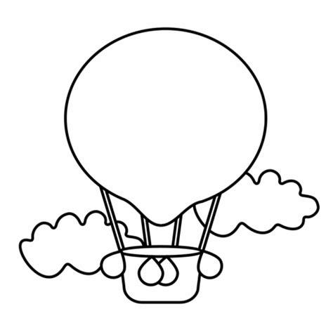 Wandtattoo Heißluftballon