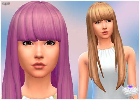 sims 4 longest hair super long with short bangs david sims