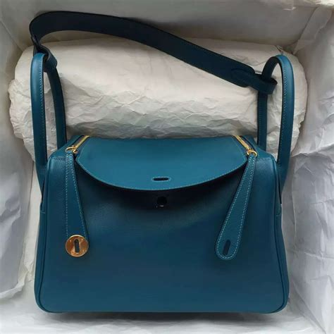 Hermes Lindy 7 112 2015 new s bag hermes 7l prussian blue leather