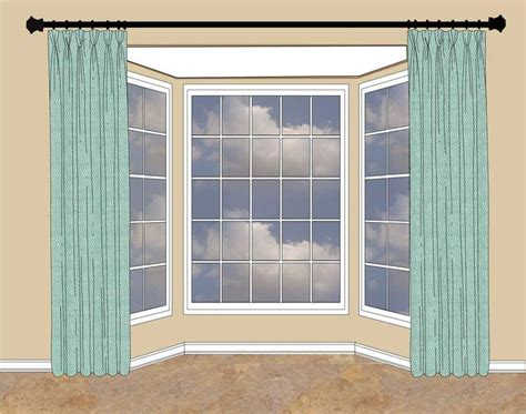 how to hang curtains on bay window bay windows curtains bay window pinterest