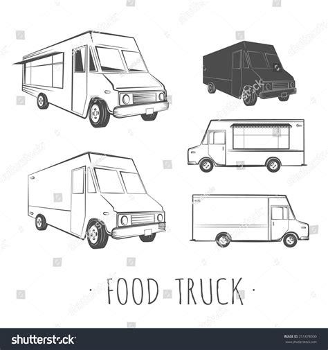 food truck design vector food truck blank stock vector illustration 251878300