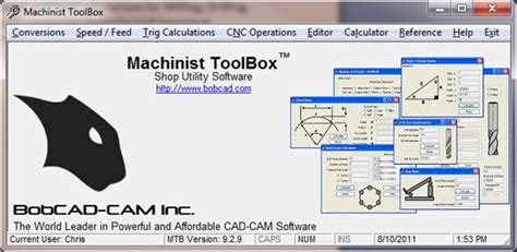 Machinist S Cnc Reference Guide bobcad machinist toolbox cnc machinist calculator