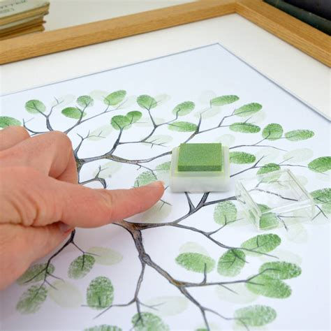 entwined fingerprint tree guest book by lillypea event