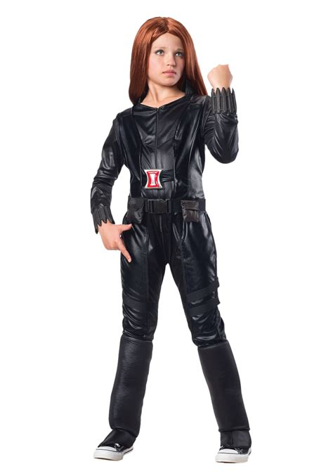 black costume child deluxe black widow costume