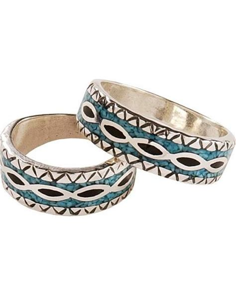 silver legends turquoise onyx western wedding band sheplers