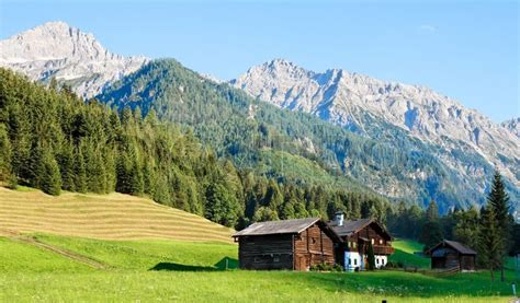 European House Plans With Photos by Alpine Landscape In Austria Mountains Forests Meadows