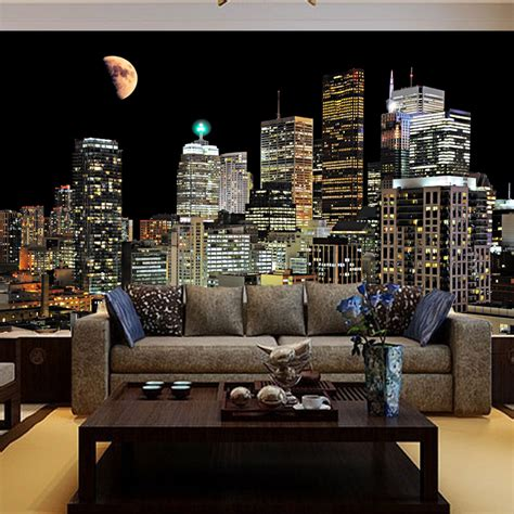city wallpaper bedroom free shipping living room tv background wallpaper bedroom