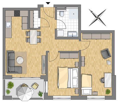 wohnung 75 m2 grundriss stadtdomizil illertissen wohnverf 252 hrung zentrumsnah