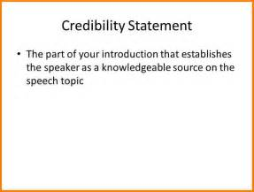 8 credibility statement examples case statement 2017