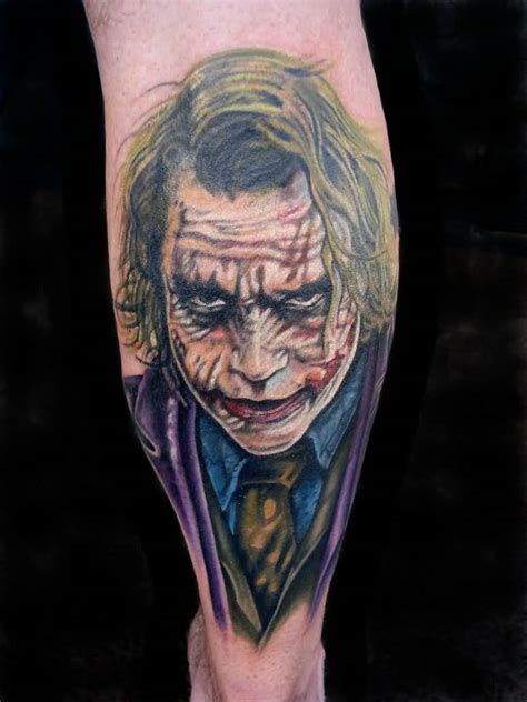 joker back tattoo 22 joker tattoos on leg
