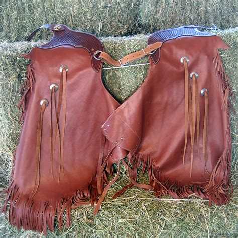 Handmade Cowboy Chaps - custom leather chinks quality leather products