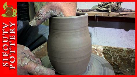 How To Throw A Vase by Pottery For Beginners How To Make A Pottery Vase Ep 03