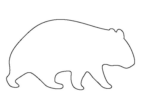 Aboriginal Australian Animal Outlines by Wombat Pattern Use The Printable Outline For Crafts Creating Stencils Scrapbooking And More