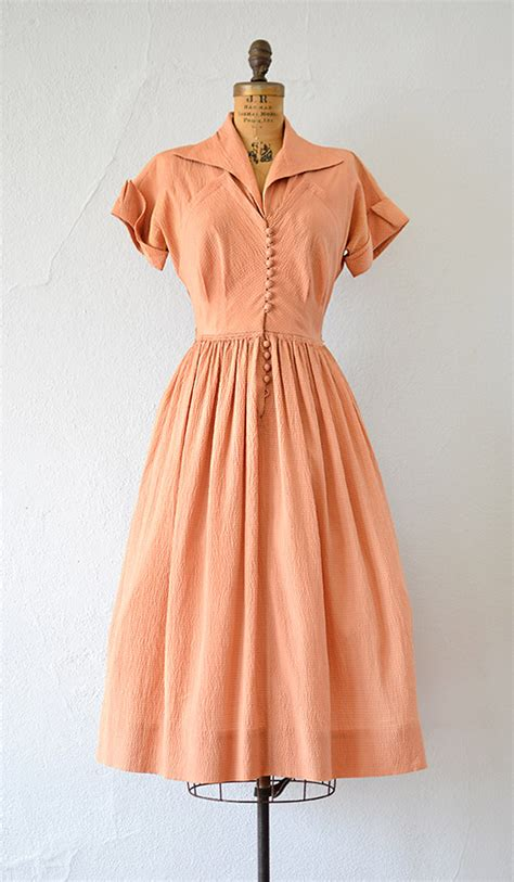 vintage late 1940s early 1950s silk dress