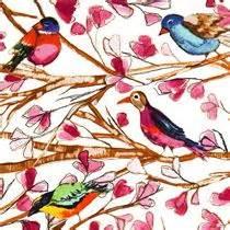 tessuti fiorati michael miller bird fabric wing song flower branch animal