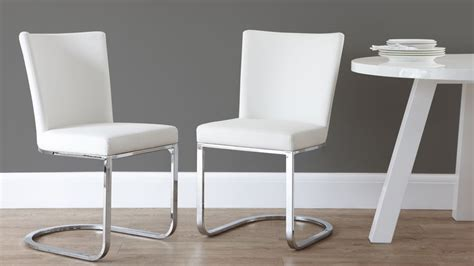 Cantilever Dining Chair Designer Faux Leather And Chrome Dining Chair Uk Exclusive