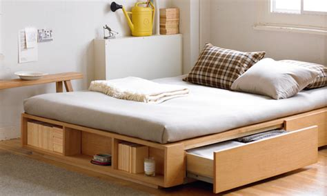 Bed Frame With Storage Design Store While You Sleep Bed Designs With Storage