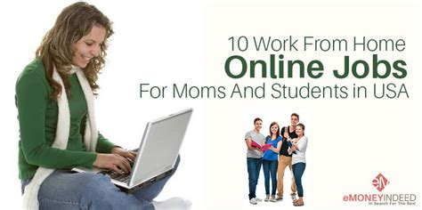 work from home for and students in usa