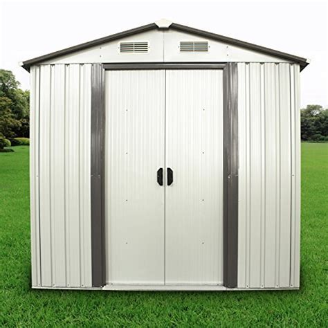 4ft Shed by Ainfox 4ft X6ft Storage Shed Toolshed Steel Backyard