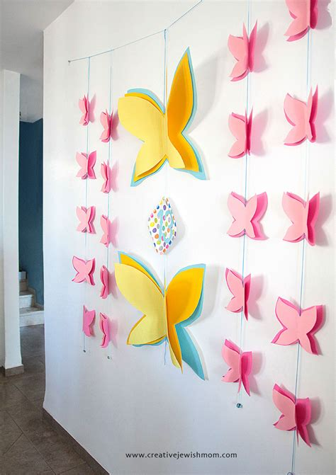 Birthday Wall Decorations by Butterfly Birthday Wall Decor That Works For Many