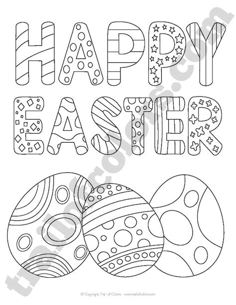 happy easter coloring pages happy easter coloring page for trail of colors