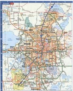 Orlando Highway Map by Free Map Of On The Road Map Holiday Travel