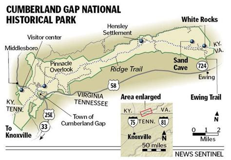 cumberland trail map die besten 25 cumberland gap ideen auf